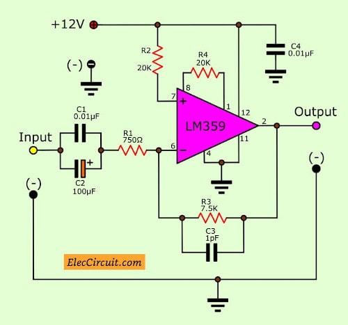 Simple video amplifier circuit