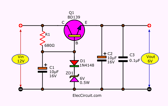 8 how to convert 12v to 6v step down circuit diagram gm alternator wiring diagram 6v to 12v wiring diagram #6
