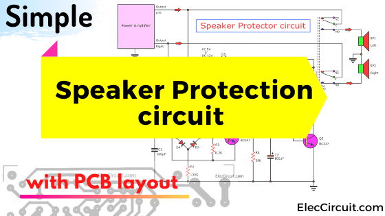 Speaker protection circuit with PCB