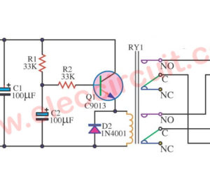 Simple speaker delay circuit