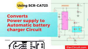 Converts power supply to automatic battery charger using SCR-CA723