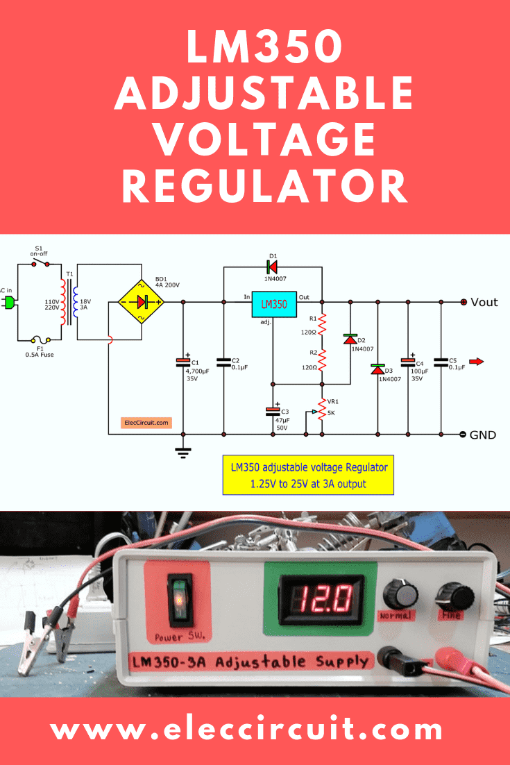 LM350 adjustable voltage Regulator