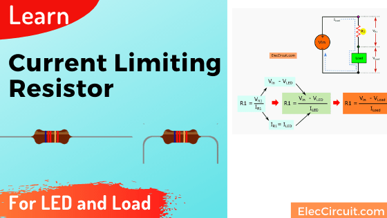 Current limiting resistor for LED and load