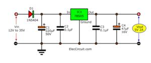 5V 2A Power Supply using 78S05