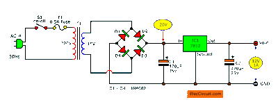Simple Designing 12V 5A Linear Power Supply | ElecCircuit.com