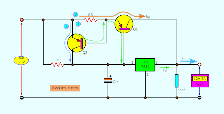 Path of the current using transistor booster