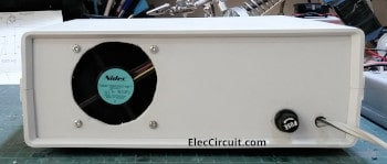 The back of the LM350-3A Adjustable Power supply