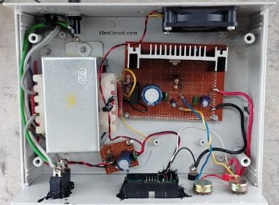 inside adjustable regulator using LM350
