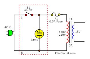 switch with neon lamp connection