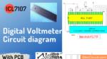 Digital voltmeter circuit diagram using ICL7107 with PCB
