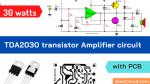 TDA2030 transistor amplifier project