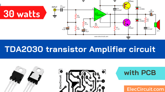 TDA2030 transistor amp circuit with PCB | Electronic ...
