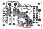 Component layout of LM317 power supply circuit