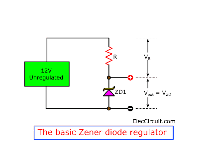 Zener voltage regulator