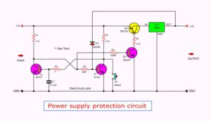 power supply protection circuit using electronic fuse