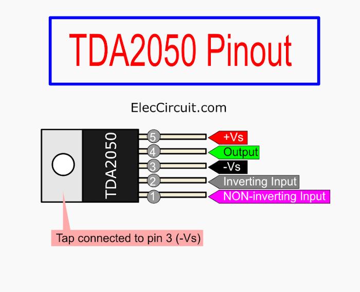 Pinout TDA2050