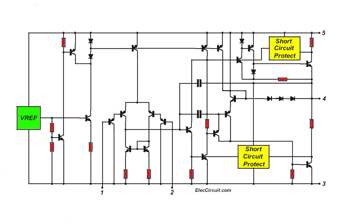 schematic diagram inside TDA2050