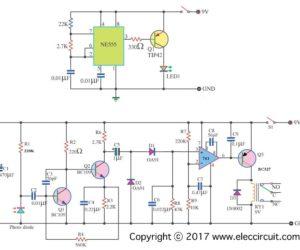 Infrared Intruder Alarm circuit diagram