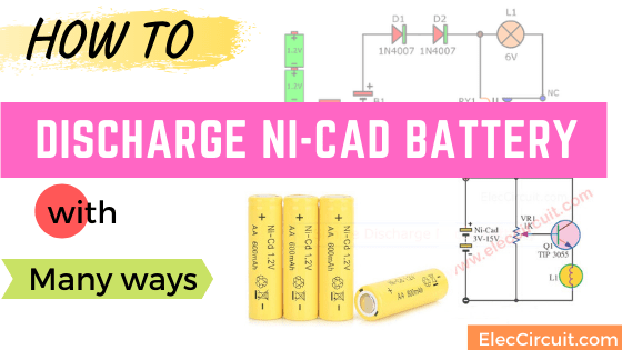 How to discharge Ni-Cd battery