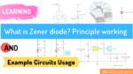 Zener diode principle working example usage
