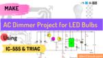 AC dimmer for LED Bulbs