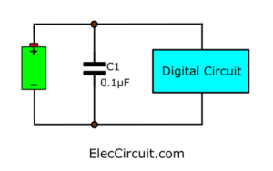 Digital Spike remover for digital using a capacitor