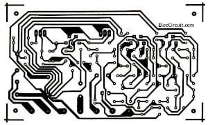 PCB layout copper Tri amplifier