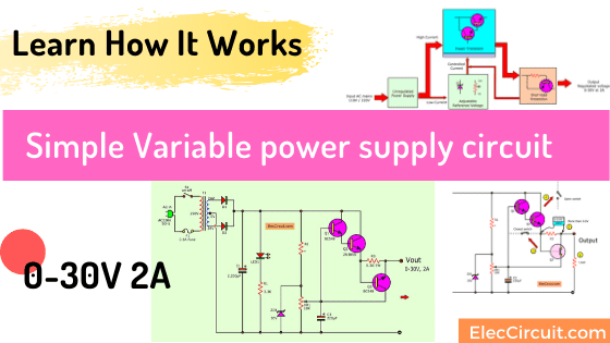 Simple Variable power supply circuit 0-30V 2A