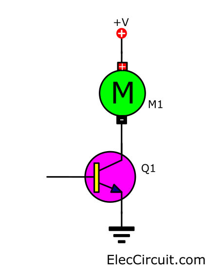 Basic transistor motor driver circuit