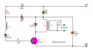 Handheld Electronic Pulse Massager circuit