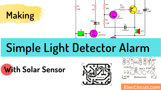 Simple Light Detector Alarm with solar sensor