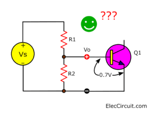 Vo drop when connect transistor