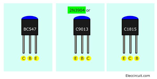 different Small transistor legs