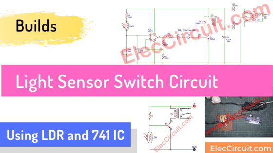 Automatic Night light circuit using LDR and IC-741