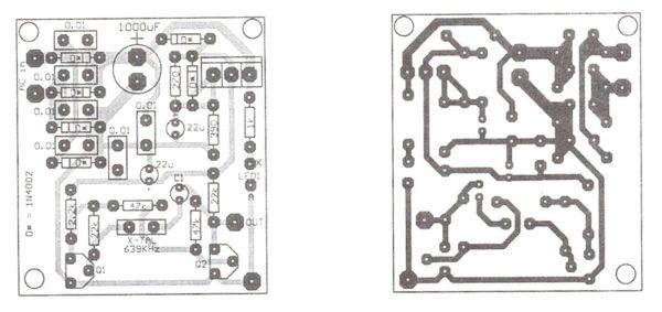 Sine wave Oscillator PCB