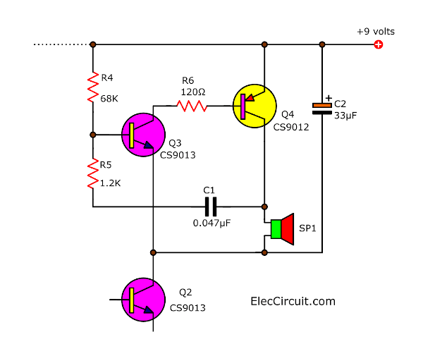 tone generator-buzzer section