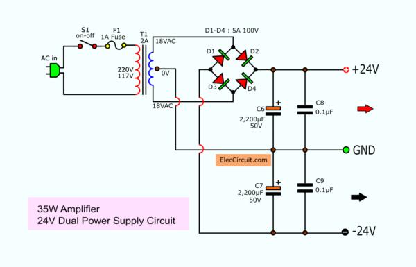 24V Dual Power Supply Circuit