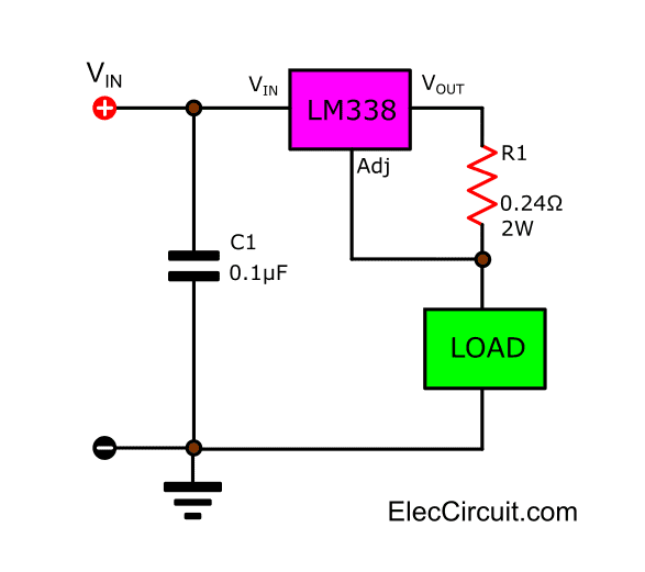 5A Current Regulator using LM338