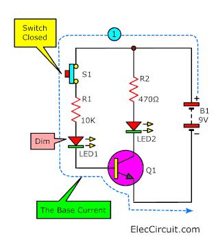 Base current transistors