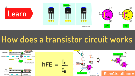 How does a transistor circuit works