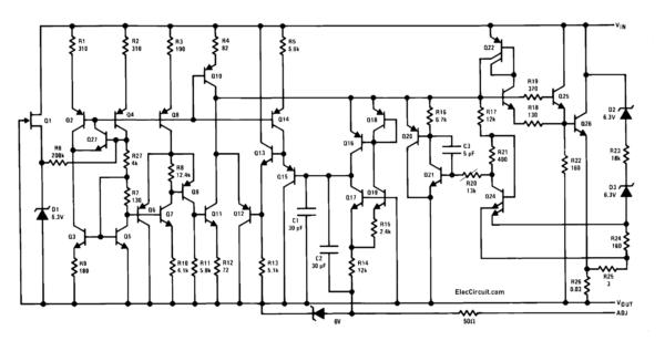 Schematic Diagram of LM338
