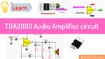 TDA2003 10W audio amplifier circuit