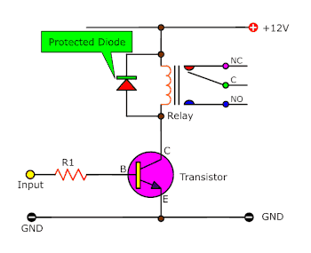 protected diode for transistor circuit