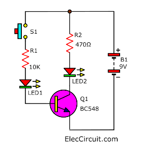 simple current transistor circuit