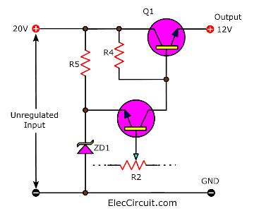 basic transistor emitter follower regulator