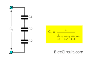 More than 3 capacitor series and calculation formula