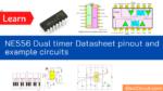 NE556 Dual timer Datasheet pinout and example circuits