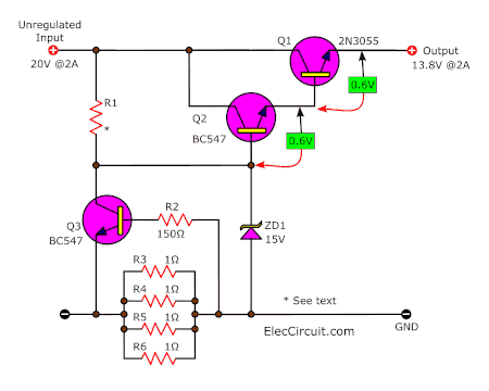 Overload Protection using transistors