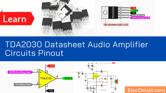 TDA2030 Audio Amplifier Circuits - ElecCircuit com