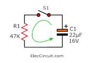 discharge RC time constant circuit
